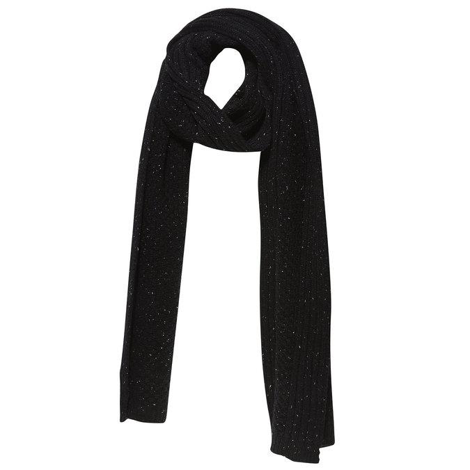Pánsky pletený šál bata, čierna, 909-6382 - 13