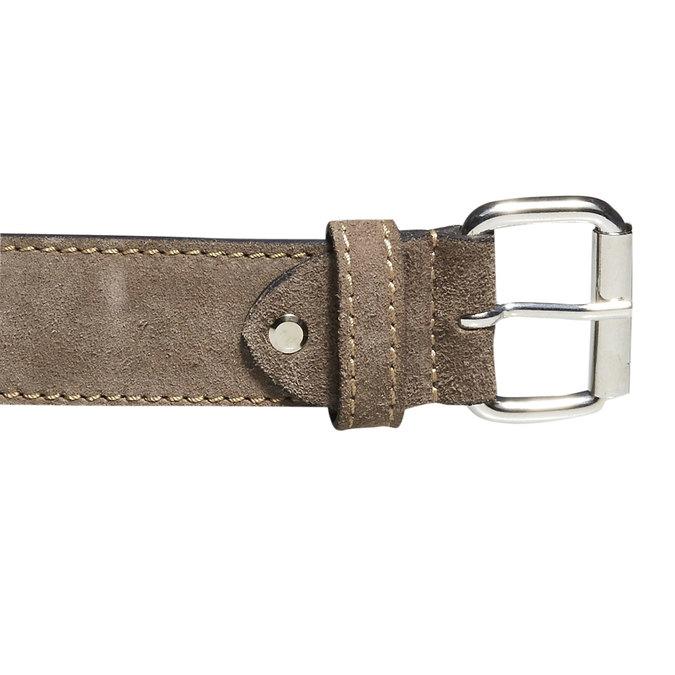 Pánsky kožený opasok bata, béžová, 953-8106 - 26