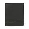 Kožená peňaženka s prešitím bata, čierna, 944-6148 - 16