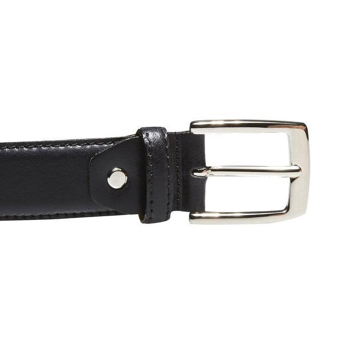 Pánsky kožený opasok bata, čierna, 954-6170 - 26