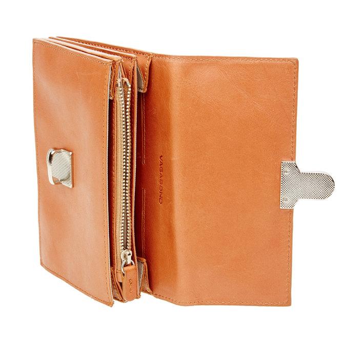 Kožená peňaženka s prackou vagabond, hnedá, 944-4119 - 16