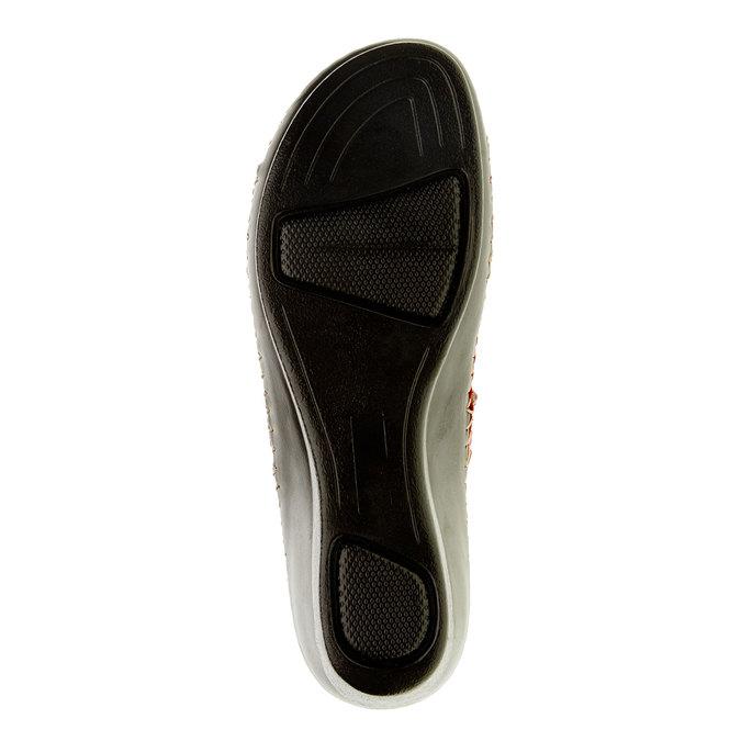Dámske papuče na klinovom podpätku comfit, červená, 674-5249 - 26
