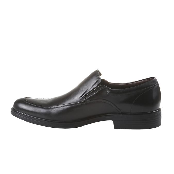Komfortné poltopánky z kože bata-comfit, čierna, 814-6934 - 15