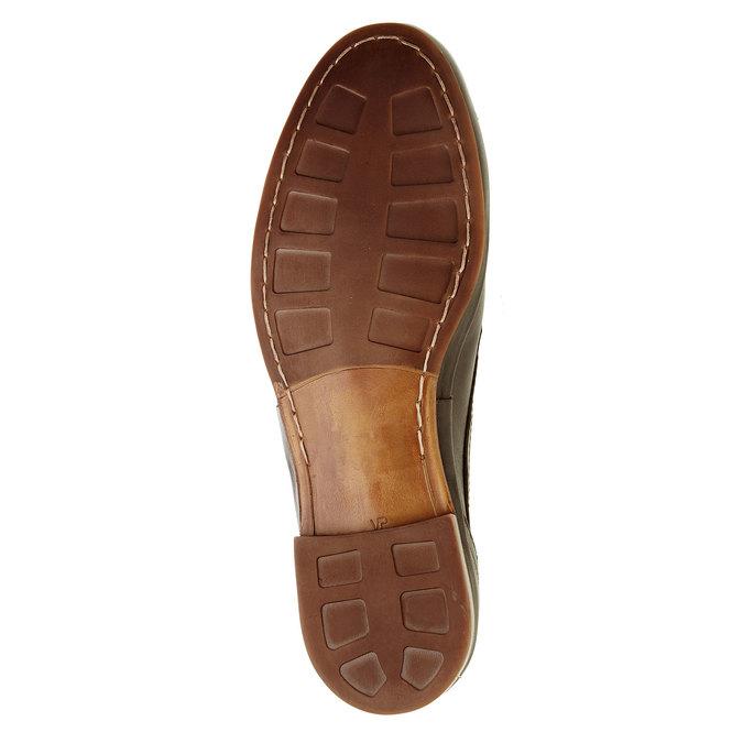 Pánske kožené poltopánky bata, hnedá, 824-4300 - 26