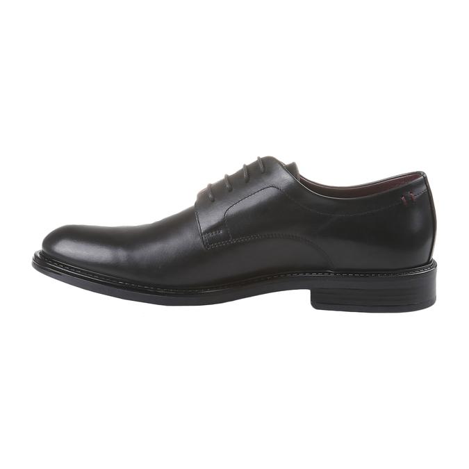 Comfort – kožené poltopánky v Brogue štýle bata-comfit, čierna, 824-6938 - 15