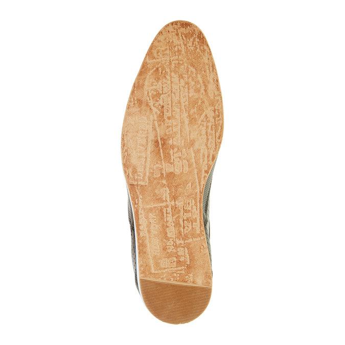 Ležérne kožené poltopánky bata, čierna, 824-6290 - 26