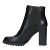 Členková obuv na podpätku s pružnými bokmi bata, čierna, 791-6604 - 26