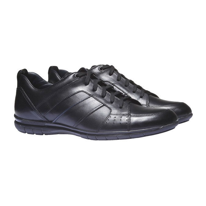 Kožené tenisky bata, čierna, 824-6351 - 26