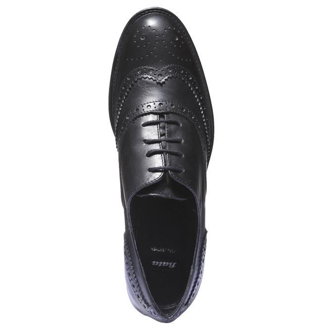Kožené dámske poltopánky bata, čierna, 524-6185 - 19