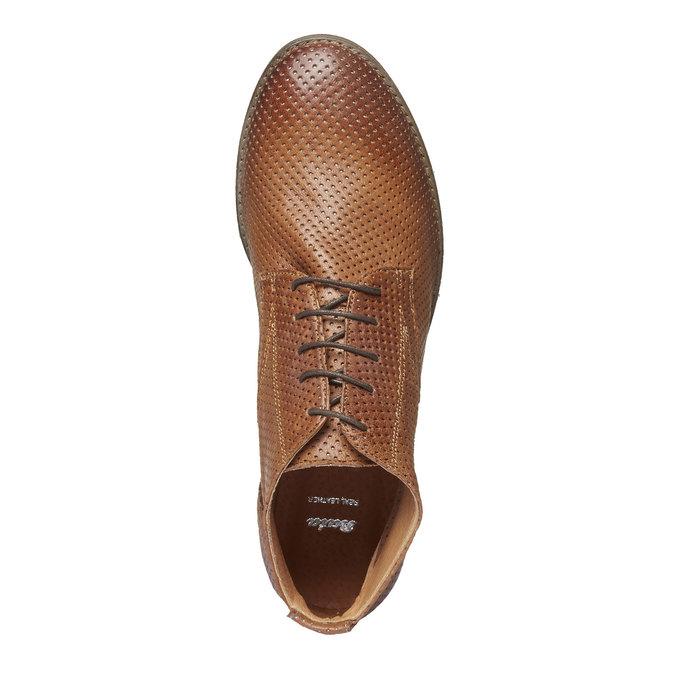 Dámske kožené členkové topánky bata, hnedá, 524-3468 - 19