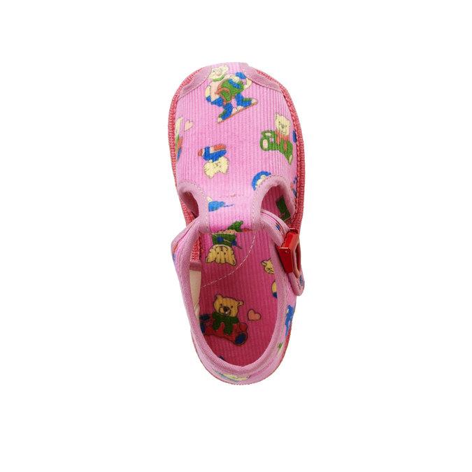 Detská domáca obuv bata, ružová, 179-5210 - 19