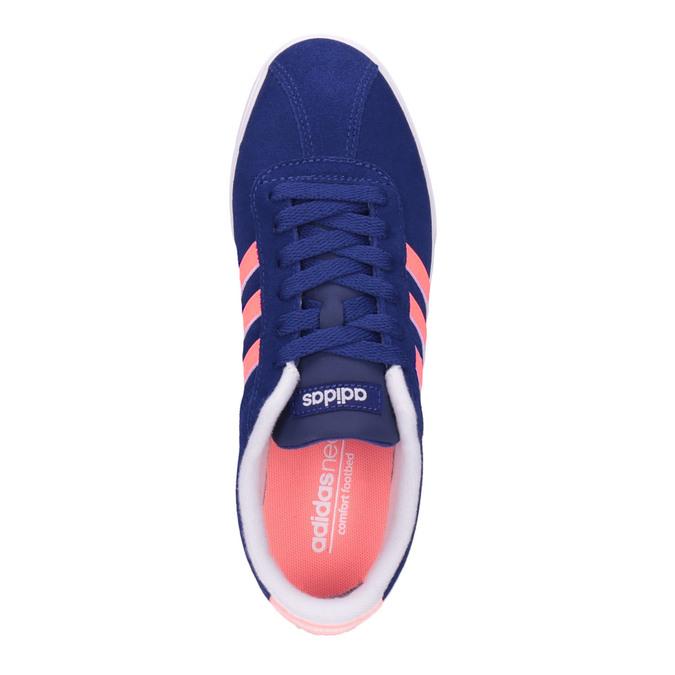 Dámske kožené tenisky adidas, modrá, 503-9201 - 19