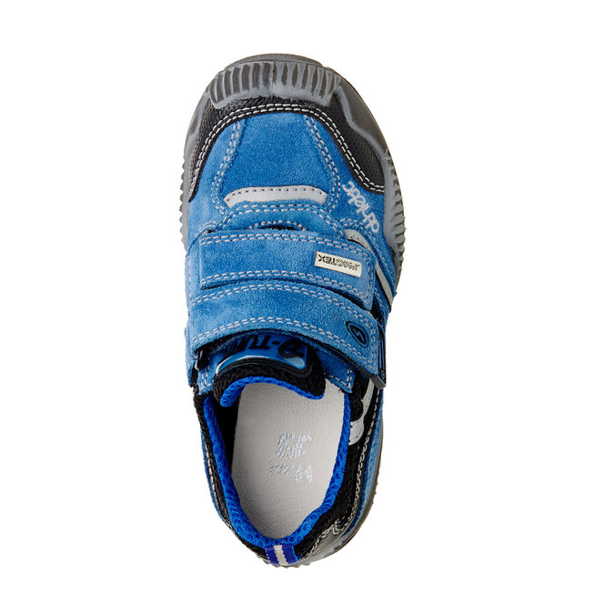 Detské kožené tenisky na suchý zips mini-b, modrá, 413-9130 - 19