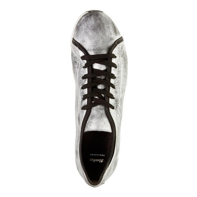 Strieborné kožené tenisky bata, strieborná, 526-1131 - 19