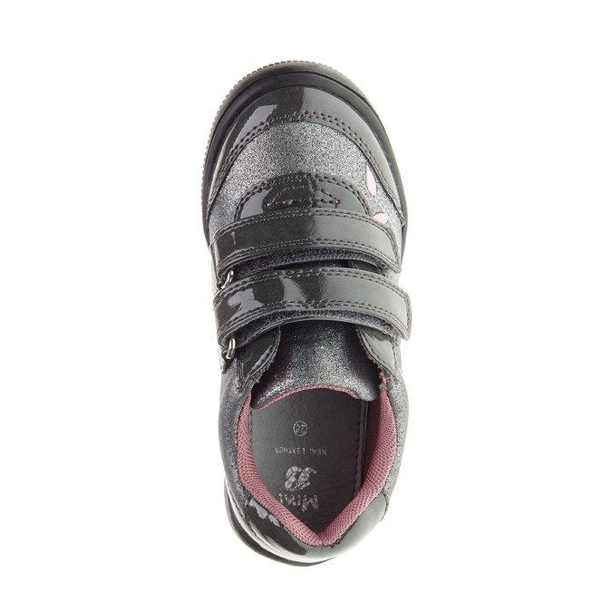 Dievčenské tenisky na suchý zips mini-b, šedá, 229-2140 - 19