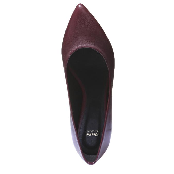 Kožené baleríny bata, červená, 524-5207 - 19