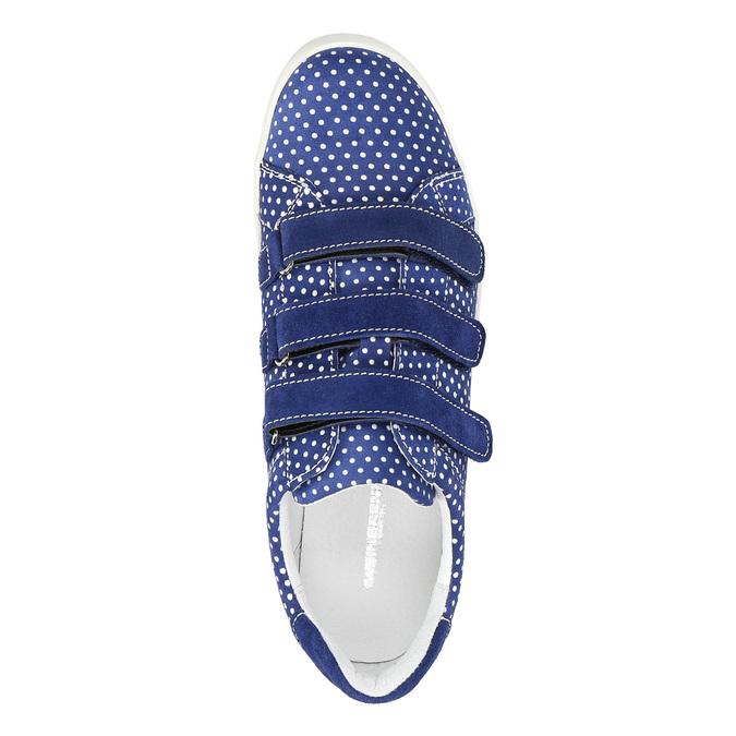 Kožené tenisky s bodkami weinbrenner, modrá, 526-9300 - 19