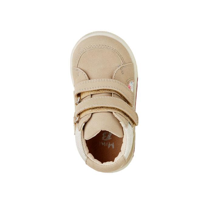 Členkové topánky na suchý zips mini-b, hnedá, béžová, 121-8101 - 19