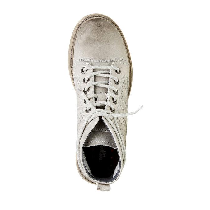 Kožené členkové topánky weinbrenner, šedá, 594-2138 - 19