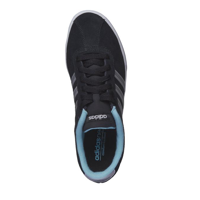 Ležérne semišové tenisky adidas, čierna, 503-6685 - 19