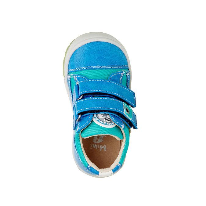 Detské topánky na suchý zips mini-b, modrá, 111-9104 - 19