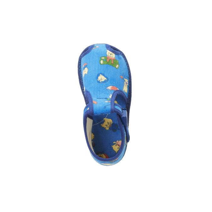 Detská domáca obuv k členkom bata, modrá, 179-9210 - 19