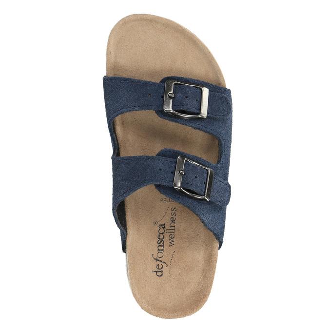Detské modré papuče de-fonseca, modrá, 373-9600 - 19