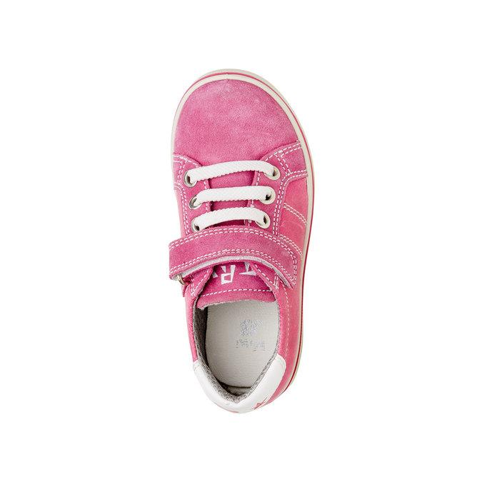 Detské kožené tenisky mini-b, ružová, 223-5120 - 19