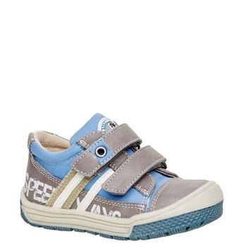 Detské topánky na suchý zips mini-b, šedá, 111-2104 - 13