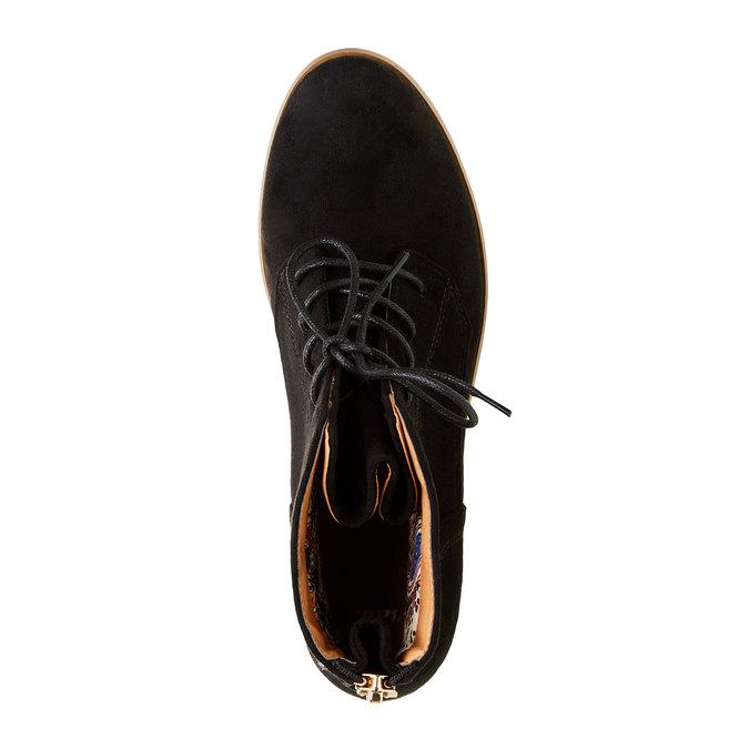 Členkové topánky so zipsom bata, čierna, 599-6493 - 19