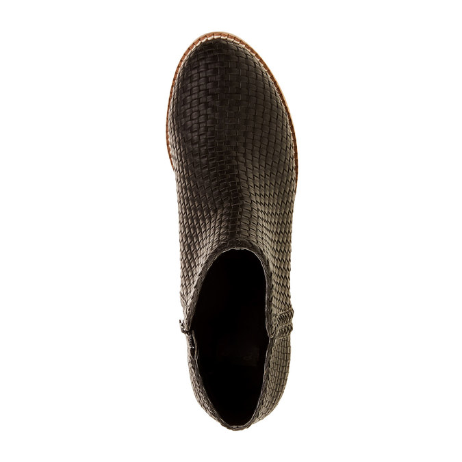 Členkové čižmy v pletenom designe bata, čierna, 691-6273 - 19