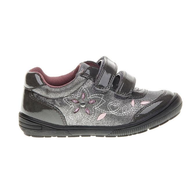 Dievčenské tenisky na suchý zips mini-b, šedá, 229-2140 - 13