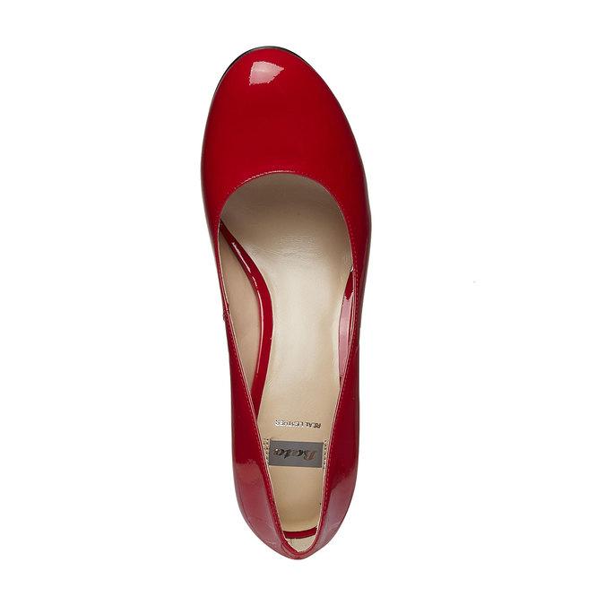 Červené kožené lodičky bata, červená, 728-5953 - 19