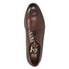 Kožené poltopánky v Derby strihu bata, hnedá, 824-4676 - 19
