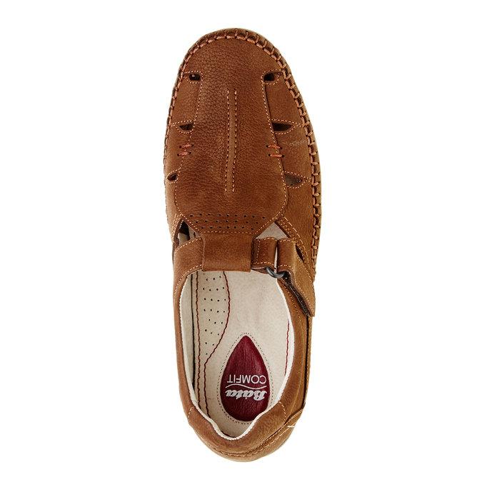 Pánske kožené sandále comfit, hnedá, 866-4184 - 19