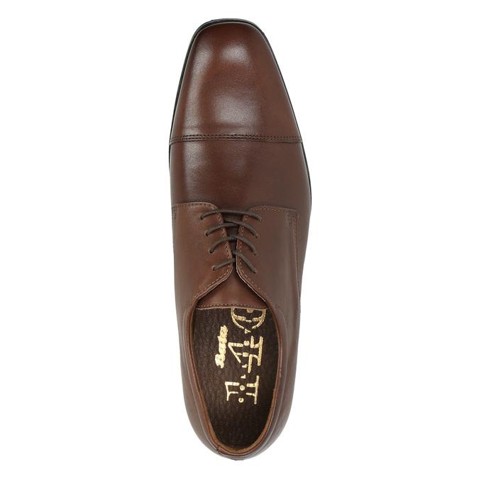 Kožené poltopánky v Derby strihu bata, hnedá, 824-4671 - 19