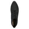 Kožená členková obuv na podpätku bata, čierna, 796-6602 - 19