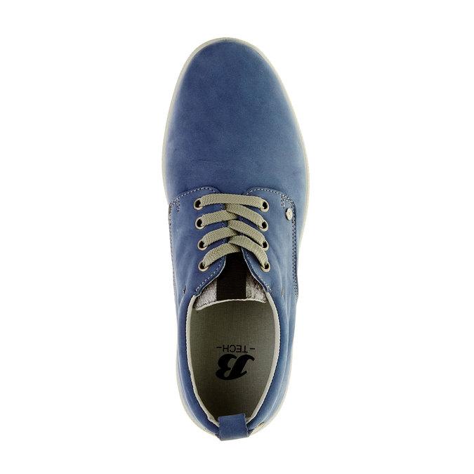 Ležérne kožené poltopánky, modrá, 843-9630 - 19