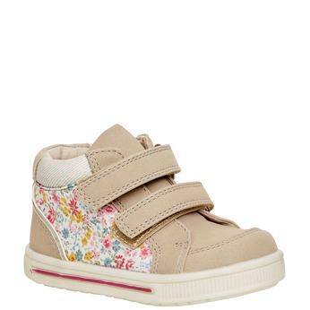 Členkové topánky na suchý zips mini-b, hnedá, béžová, 121-8101 - 13