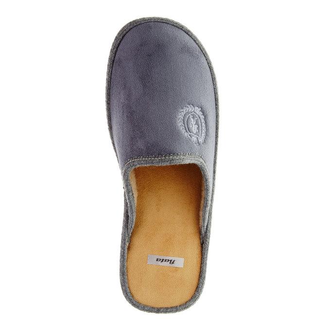 Pánska domáca obuv bata, šedá, 879-2165 - 19