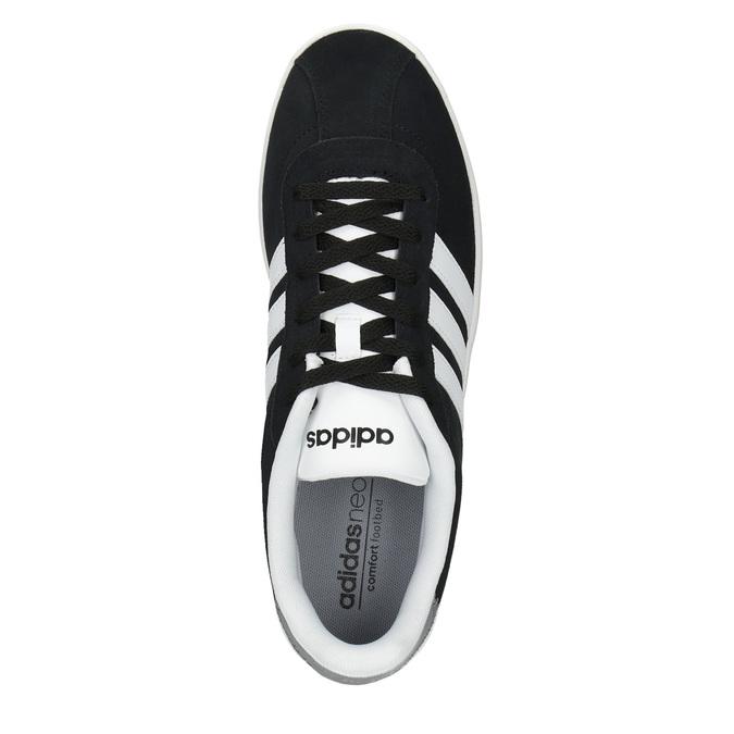 Pánske kožené tenisky adidas, čierna, 803-6132 - 19