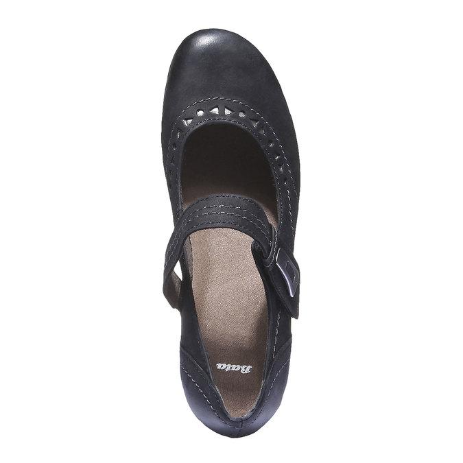 Kožené Mary Janes bata, čierna, 626-6100 - 19