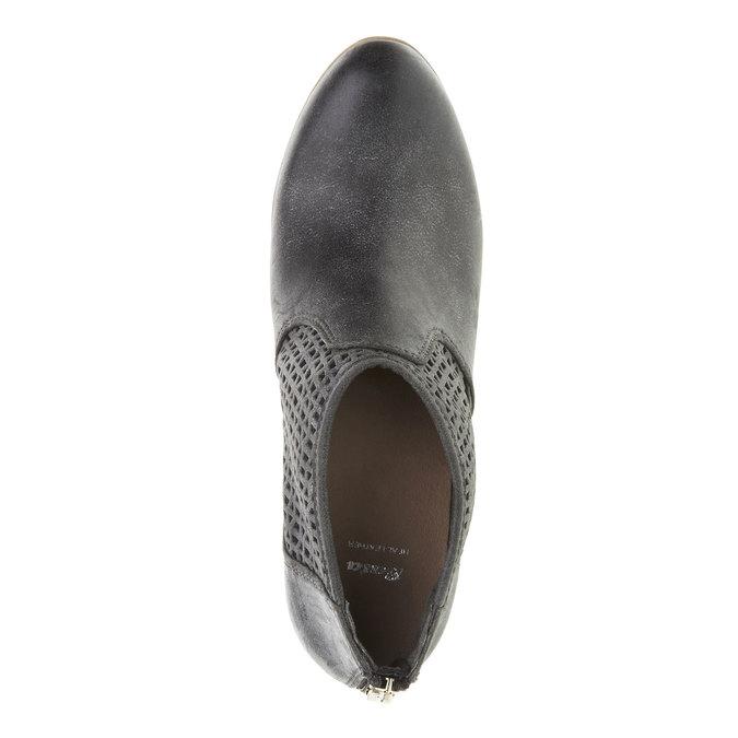 Členkové čižmy na podpätku bata, čierna, 691-6106 - 19