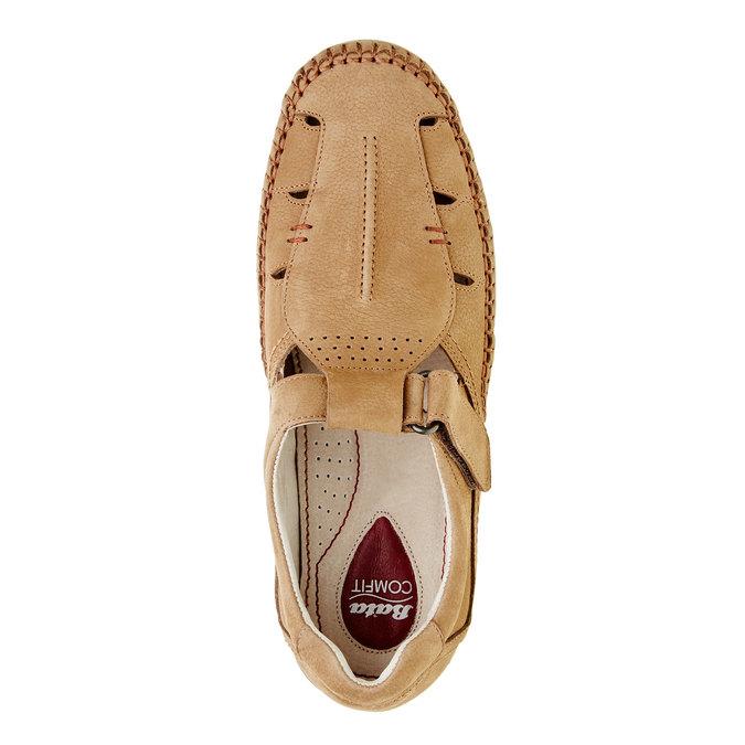 Pánske kožené sandále comfit, hnedá, 866-3184 - 19