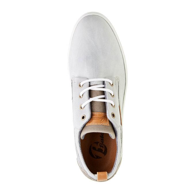 Ležérne kožené tenisky bata, šedá, 844-2310 - 19