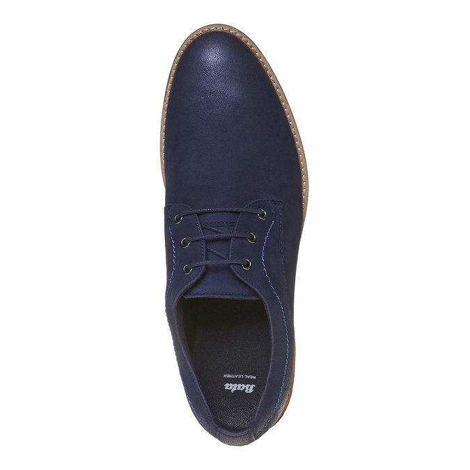Ležérne kožené poltopánky bata, modrá, 826-9642 - 19