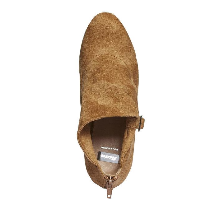 Členkové čižmy s výraznou podrážkou bata, hnedá, 799-3630 - 19