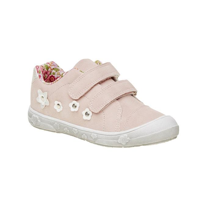 Dievčenské tenisky na suchý zips mini-b, ružová, 221-5161 - 13