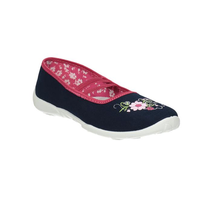 Detská domáca obuv mini-b, modrá, 379-9208 - 13