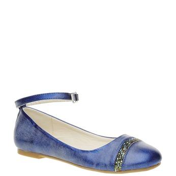 Modré balerínky s remienkom mini-b, modrá, 321-9181 - 13